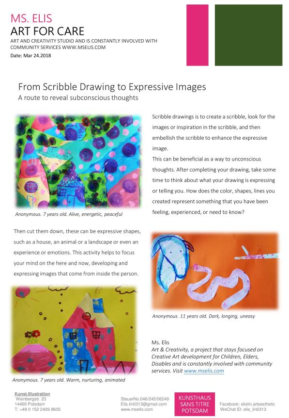 press 24.3.2018 From Scribble Drawing to Expressive Images