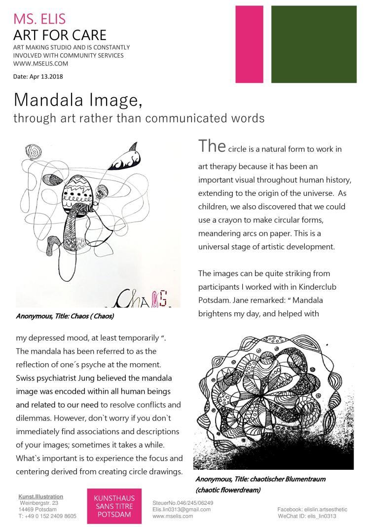 press 13.4.201 圓形創作:會說話的曼陀羅 english