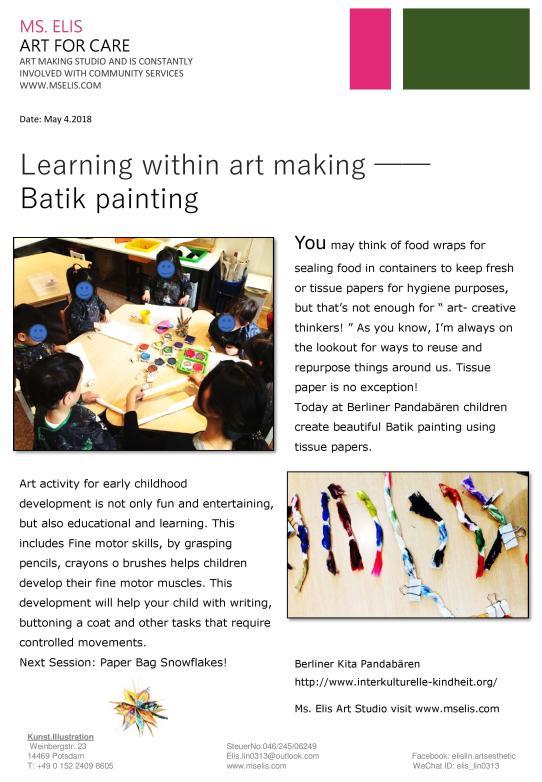 press 4.5.2018 是創作也是學習 - Batik Style painting - english