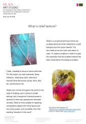 press 24.9.2018 What is relief texture-eng